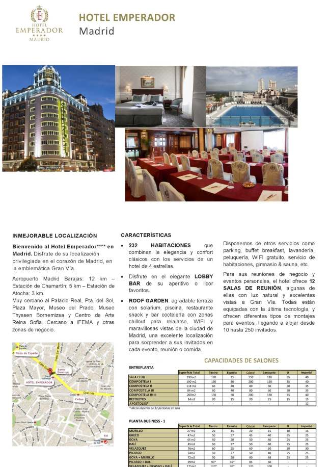 Hotel Emperador Madrid MICE ESP