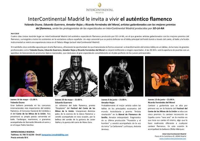 NP Flamenco Experience en InterContinental Madrid 2
