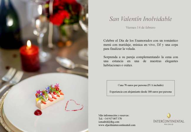 InterContinental Madrid San Valentín 2020