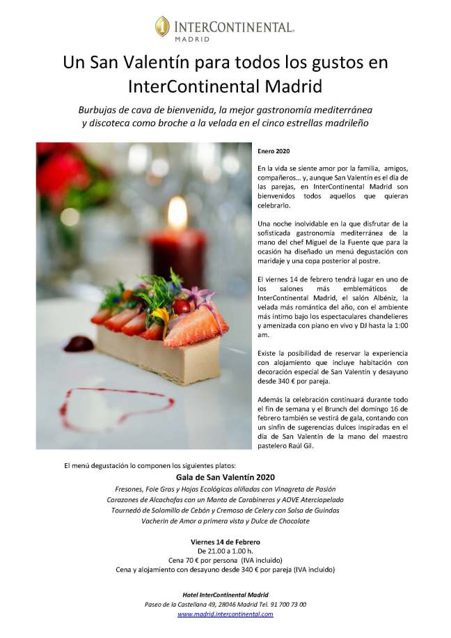 NP San Valentin en InterContinental Madrid (1)