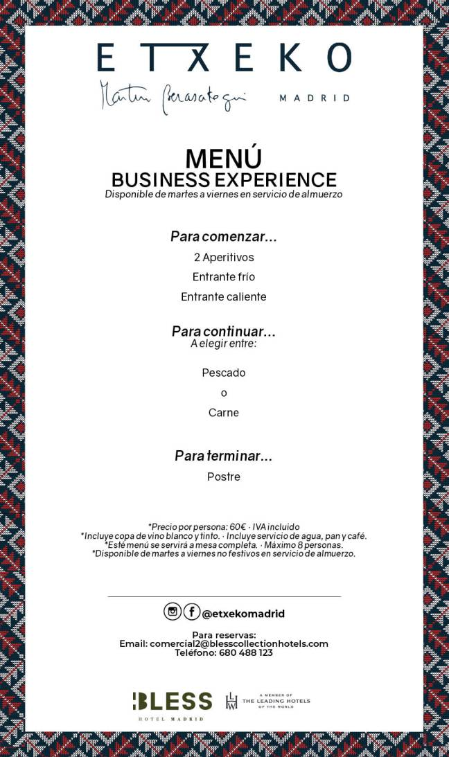 business experience menu-GENERICO ESP